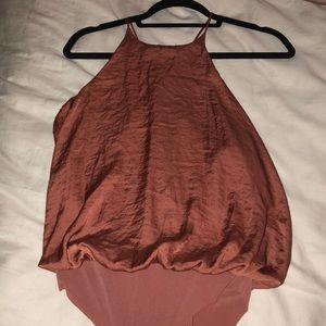 Zara dark pink/ orange rose gold bodysuit